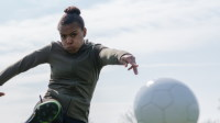 Nikita Parris kicking ball
